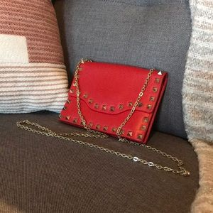 KC Jagger/Nordstrom Red Leather Studded Crossbody